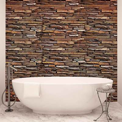 WALL MURAL PHOTO WALLPAPER PICTURE (1537PP) Stone Brick Wall Wood