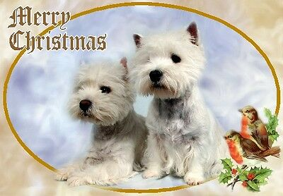West Highland White Terrier Dog A6 Christmas Card Design XWESTIE-7 by paws2print