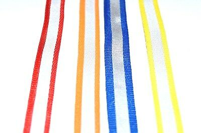 50M 10MM Reflective Tape Strip Sew-On Silver  Fabric Trim Safty Vest 10MM