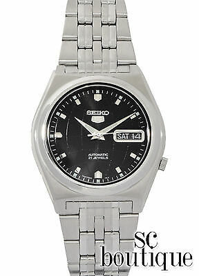 SEIKO 5 SNK669 Sport Automatic Analog Day-Date Black World Globe Dial Watch