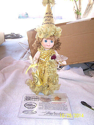 GOOGLY Porcelain BUBBLES HSN 21st Anniversary DOLL &STAND-Patricia  Loveless