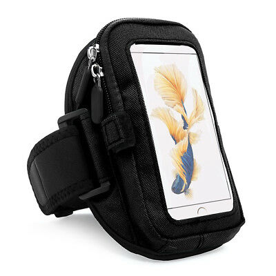 Black Zippered Sports Wrist Pouch Armband Bag for iPhone 7 Plus & 6s Plus 5.5