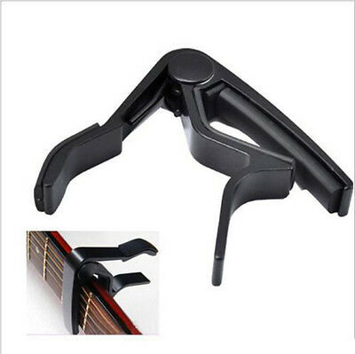 Black Acoustic Electric Guitar Metal Quick Change Trigger Tune Key Capo Clamp