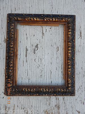 ANTIQUE WOODEN PICTURE FRAME-LARGE GOLD FINISH, BUILT WELL!