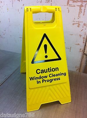 Caution Window Cleaning In Progress (Health And Safety Sign)