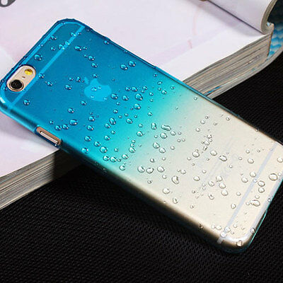 Hard Case Cover RainDrop for Various Apple iPhone Phones + Screen Protector
