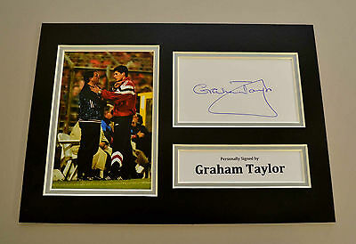 Graham Taylor Signed A4 Photo Display Genuine England Autograph Memorabilia +COA