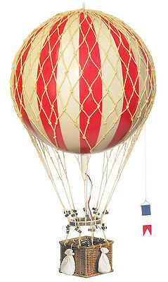 """Red & White Striped Hot Air Balloon 13"""" Hanging Model Aircraft Decor"""