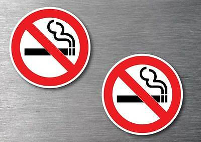No smoking  stickers 2 pack waterproof non fade quality outdoor vinyl