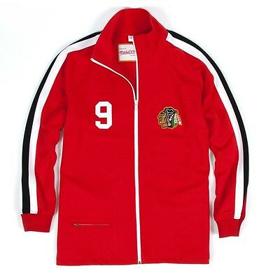 Bobby Hull MITCHELL & NESS 71-72 Authentic Warm Up Jacket Chicago Blackhawks 36