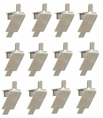 12 STAINLESS STEEL SHELF SUPPORT, PILASTER CLIP SQUARE SLOT Traulsen 344-08982-0