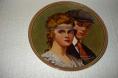 """Norman Rockwell / Knowles China Co. """" MEETING ON THE PATH """" Collector Plate"""