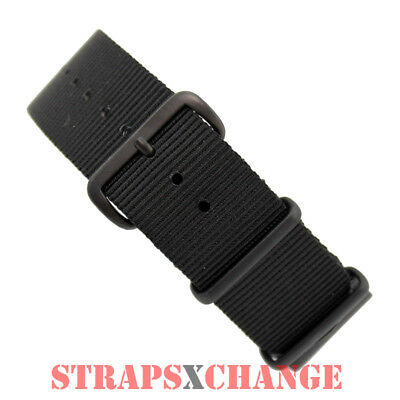 PREMIUM PVD NATO® G10 BLACK 4 RING NYLON military diver's watch strap band