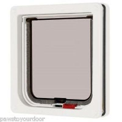 Pet mate 2 way locking cat flap white catflap pet door 304W