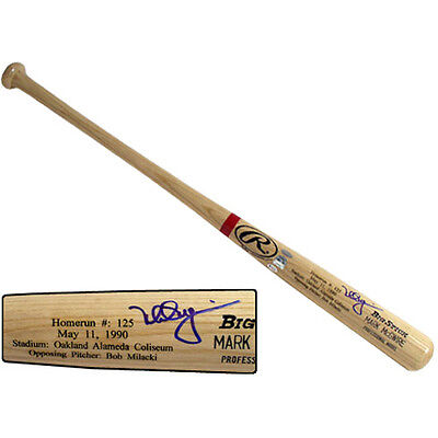 Mark Mcgwire Cardinals Rawlings Autographed L.E. 583 HR Game Model Bat - Steiner