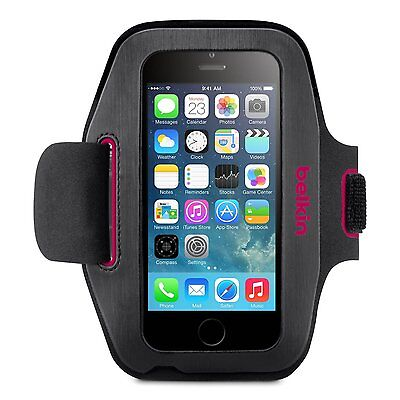 Belkin Sport-Fit Armband for iPhone 6 6S Sweat Protection Hand Protection Pink