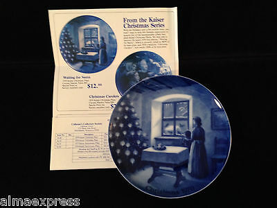 "1970 Christmas ""Waiting for Santa Claus"" Kaiser 1st Issue Collector Plate"