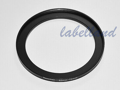 62mm-72mm Filter Adaptor Ring Converts 62mm lens thread to 72mm 62-72 Step-Up