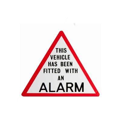 THIS VEHICLE HAS BEEN FITTED WITH AN ALARM.... - Window Sticker