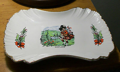 James Kent Old Foley Porcelain Trinket /Small Tray Scots Guard