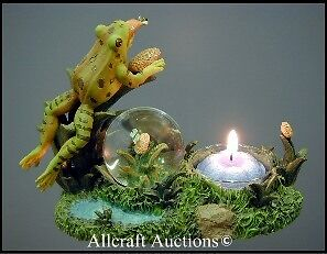 TREE FROG Candle Holder Snowdome Toad