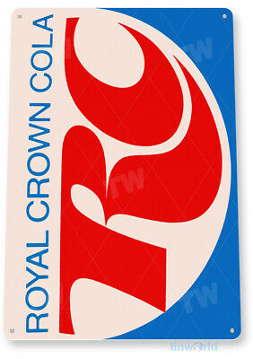 "TIN SIGN ""RC Cola"" Metal Decor Wall Art Coke Shop Store Kitchen Cave A154"
