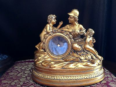 Beautiful  Gold Painted Clock with Ancient Decor