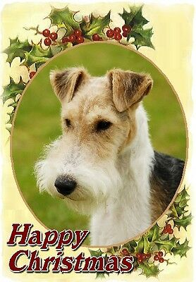 Fox Terrier Dog A6 Christmas Card Design XFOXWIRE-11 by paws2print