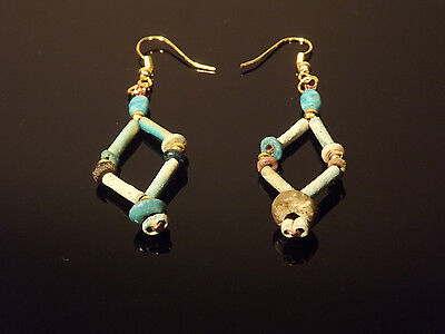 Antiquities Reborn Egyptian Faience Earrings