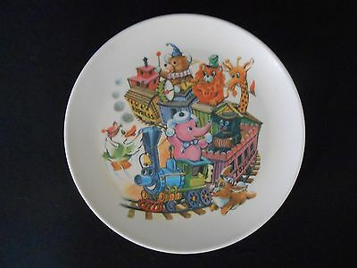 """Vintage 1970s Melmac Children's Plate, The Little Engine that Could 8"""""""
