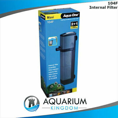 Aqua One Maxi 104F Internal Power Filter 1480L/H 180L Clean Aquarium Fish Tank