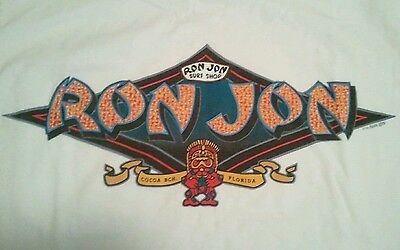Vintage 90's Ron Jon Surf Shop T Shirt Florida surfing cocoa beach