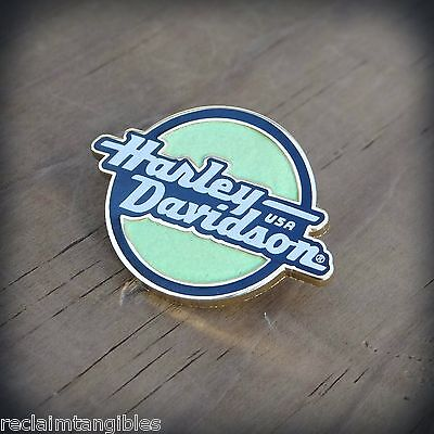 Harley Davidson Pin - GLOWING LOGO - Genuine HD Metal Pin