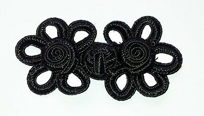10 pairs black Chinese Frogs button fastener sewing
