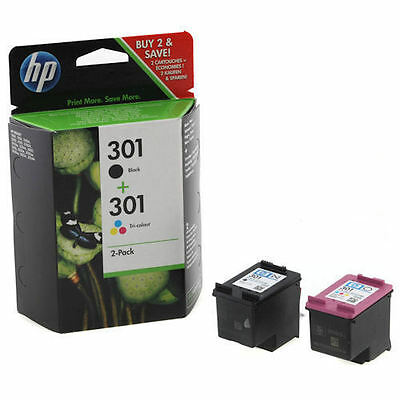 Genuine HP 301 Black & Colour Ink Cartridge Twin Combo Pack
