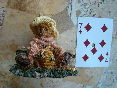 "Boyds Bearstone Resin # 2260 ""Bailey...Honey Bear"""