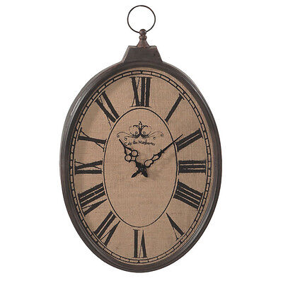 """Wall Clock Large 23"""" H Oval Traditional Metal Pocket Watch Designed Clocks New"""