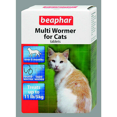 WORMING MULTI WORMER TABLETS FOR CATS BEAPHAR / SHERLEY​ 12 tablets