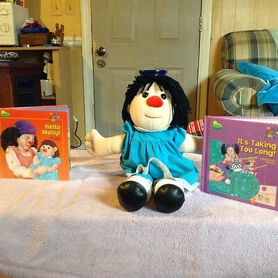 Molly and 2 Books from Big Comfy Couch ! GUC ! Fast Shipping !
