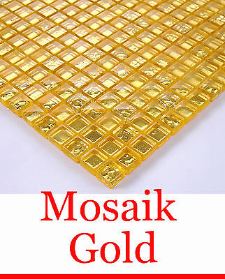 Glasmosaik fliesen 48x48x8mm gold metall eur 7 14 - Mosaik fliesen gold ...