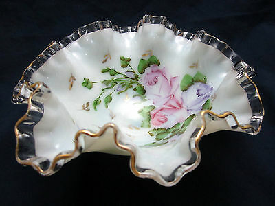 Fenton Glass CHARLETON LINE ABELS, WASSERBERG & CO. AWCO NEW YORK CREST BOWL