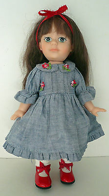 """HORSMAN GATA BOX 11"""" Doll with Freckles 1985 Hard Plastic with Original Clothes"""