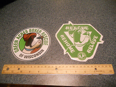 Green Acres Boxer Rescue Decal