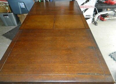 Antique Carved Oak Refectory Table Made in England
