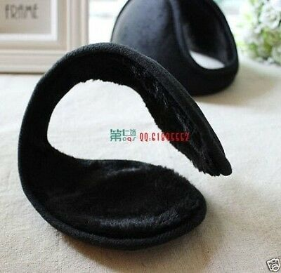 Men Black Fleece Earmuff Winter Ear Muff Wrap Band Warmer Grip Earlap Gift