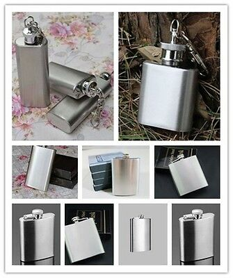 Stainless Whiskey Hip Flask Wine Liquor Alcohol Drink Water Pocket Bottle 1pc