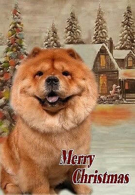 Chow Chow Dog A6 Christmas Card Design XCHOW-8 by paws2print