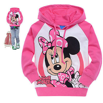 Kids Girls Toddlers Cartoon Hoodies longsleeves Children Clothing Suit 1-7Y