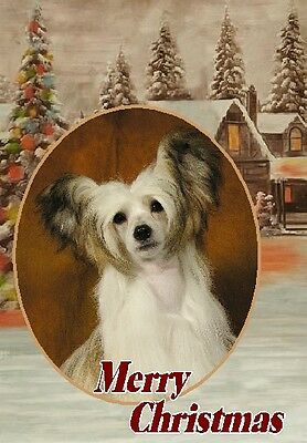 Chinese Crested Dog A6 Christmas Card Design XCHCRSTD-9 by paws2print