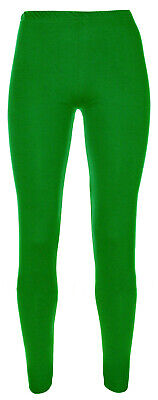 Girls Plain Full Length Legging Age 2 3 4 5 6 7 8 9 10 11 12 13 Nativity Green